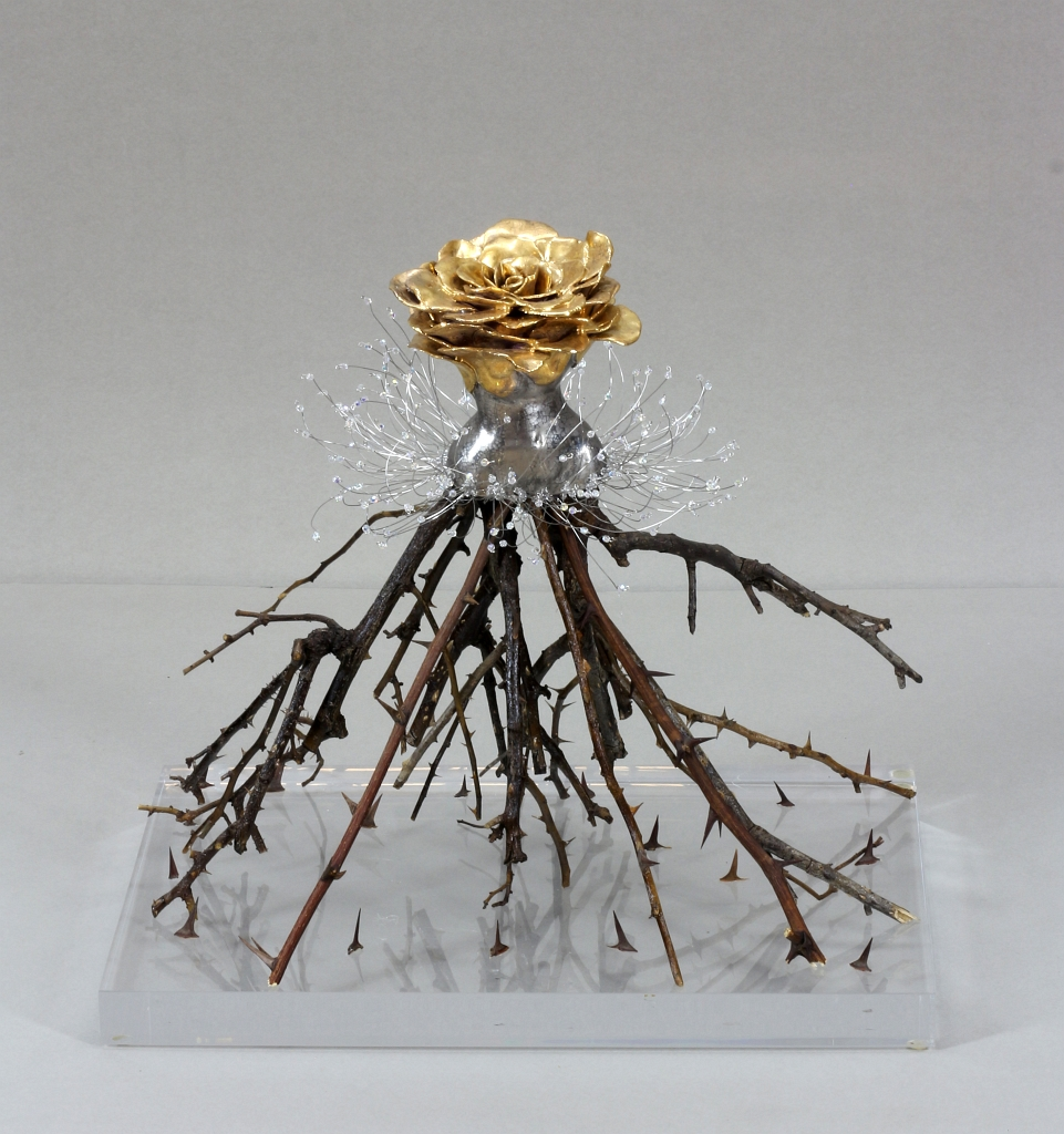 Estella Fransbergen - Clay Rose Torso with 24K Gold Over Glaze