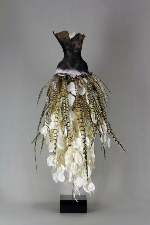 Estella Fransbergen - Clay Torso w/ Herkimer Broach