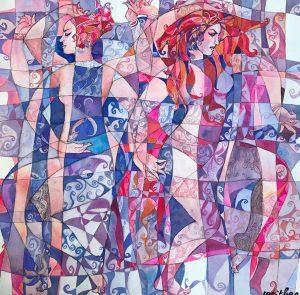 Serithea Silk Scarves - Duet