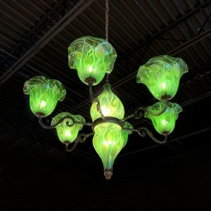 Daniel Lotton - Green Leaf and Vine Chandelier