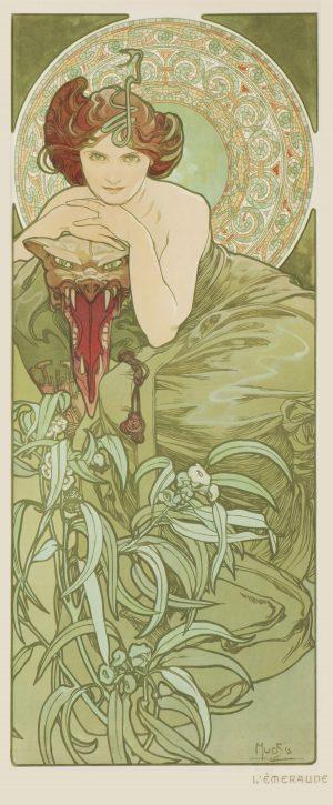 Alphonse Mucha - L'Emeraude