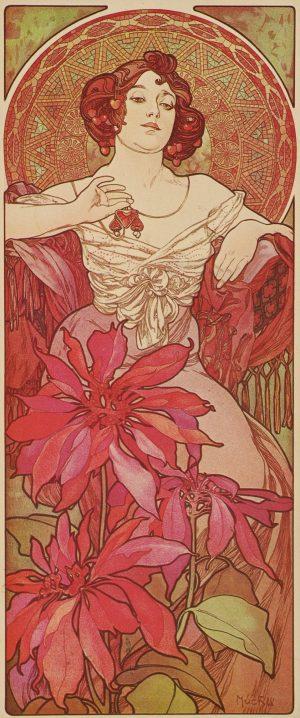 Alphonse Mucha - Le Rubis