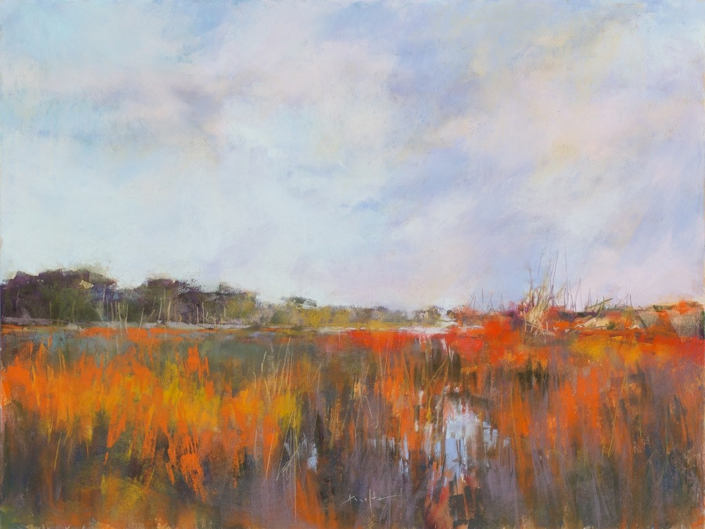 Lyn Asselta - Marsh in Orange