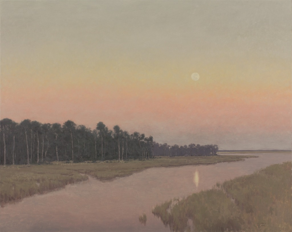 Matthew Cutter - Moonrise on the Marsh