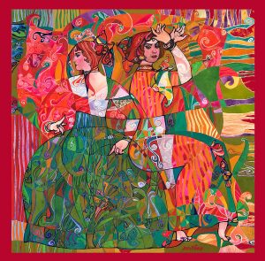 Serithea Silk Scarves - Palmeras